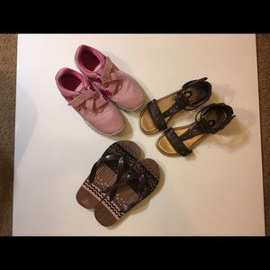 Other - Bundle of 3 Pair of Girls Size 3 1/2 Shoes.